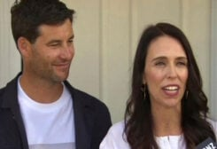 New Zealand Prime Minister with Clarke Gayford