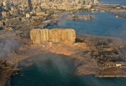 FILE PHOTO: In this Aug. 5, 2020 photo, smoke rises after an explosion the day before at the port of Beirut, Lebanon. /AP