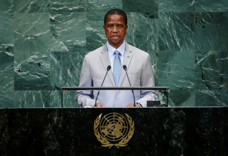 Zambia's President Edgar Chagwa Lungu addresses the 73rd session of the United Nations General Assembly at U.N. headquarters in New York, U.S., September 25, 2018. REUTERS