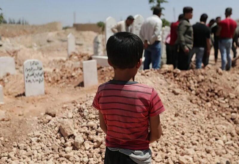 A Syrian cemetery