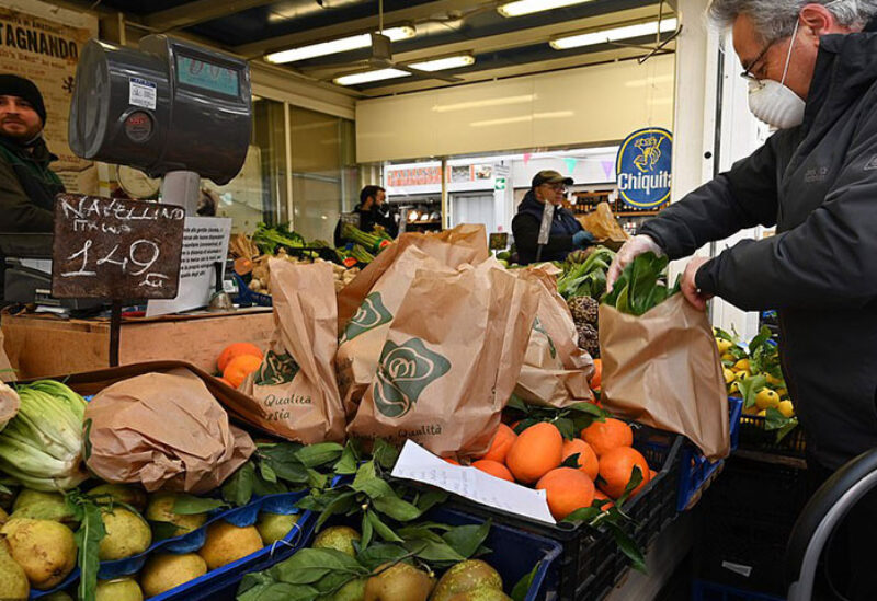 A deserted fruit and vegetables market is pictured on the first day of a nationwide lockdown due to the coronavirus disease (COVID-19) outbreak,