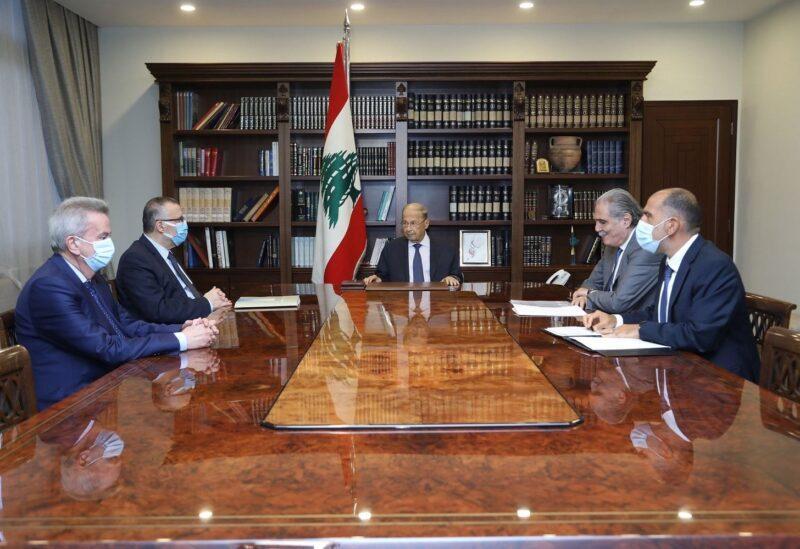 Aoun's meeting with Salameh and Elias