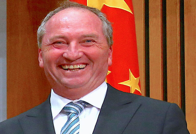 Barnaby Joyce, Australia's Deputy Prime Minister and Minister for Agriculture and Water Resources,