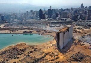 Beirut port explosion damage