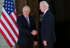 Biden, Putin shaking hands