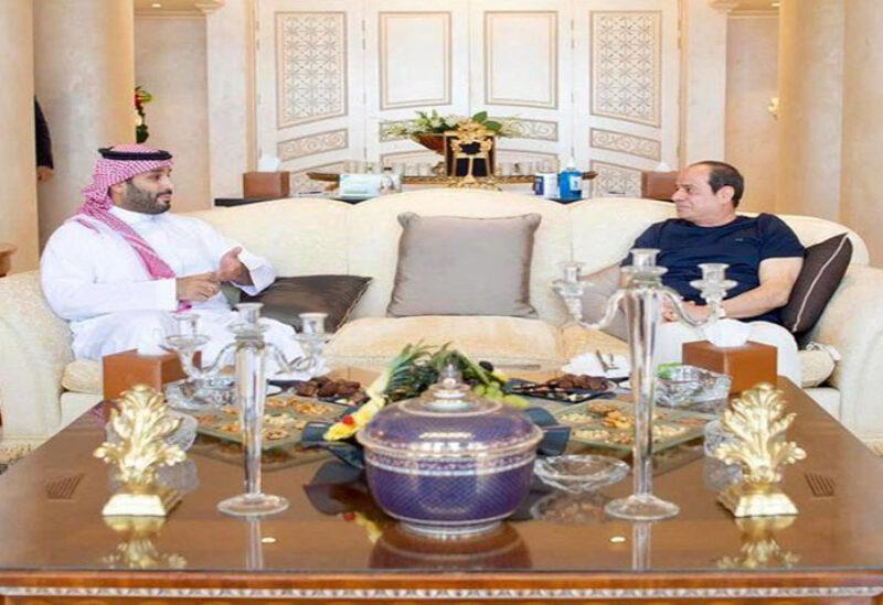 Bin Salman meets with El Sisi