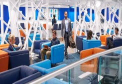 Business travel in airports