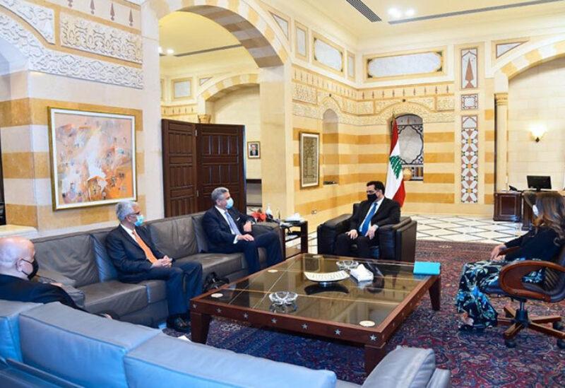 Caretaker PM Diab meeting with Ferid Belhaj
