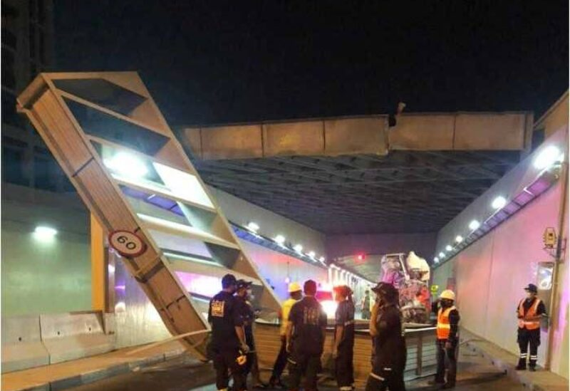 Dubai, lorry crash