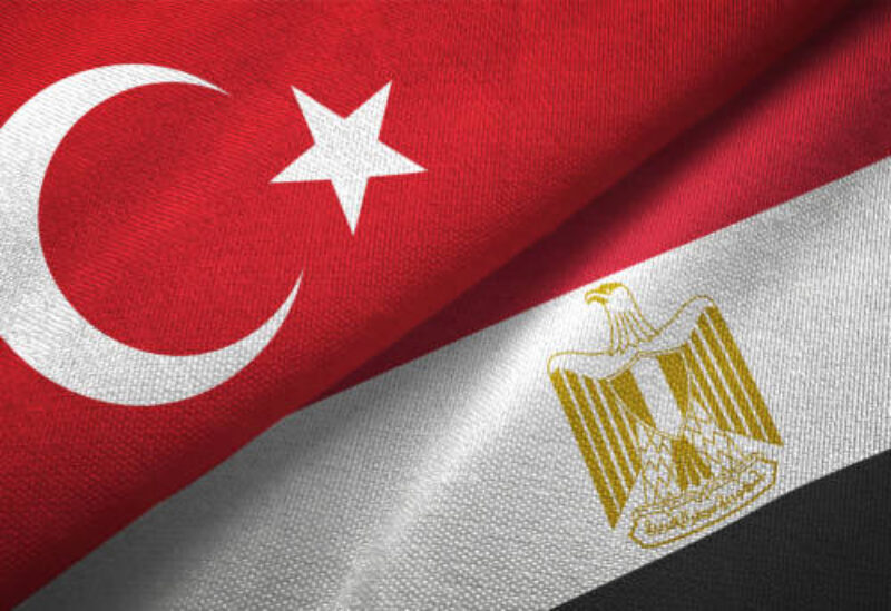 Egyptian and Turkish flags