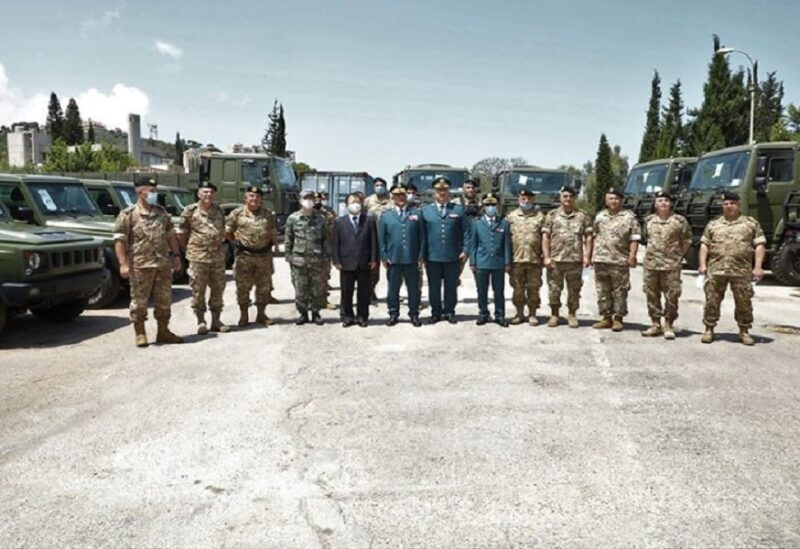 Lebanese army receives military vehicles from China