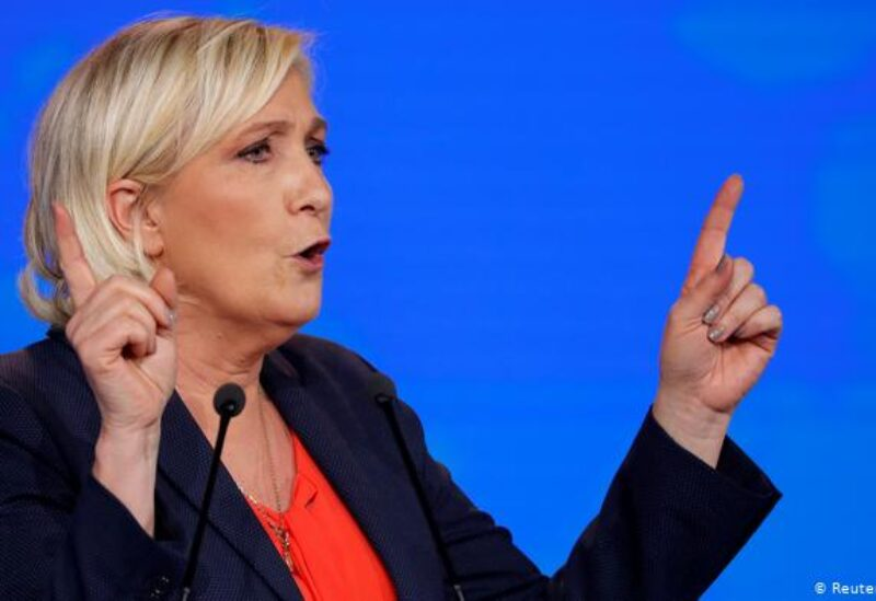 Marine Le Pen, leader of France's far-right National Rally party