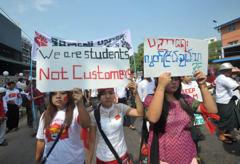 Myanmar students protests