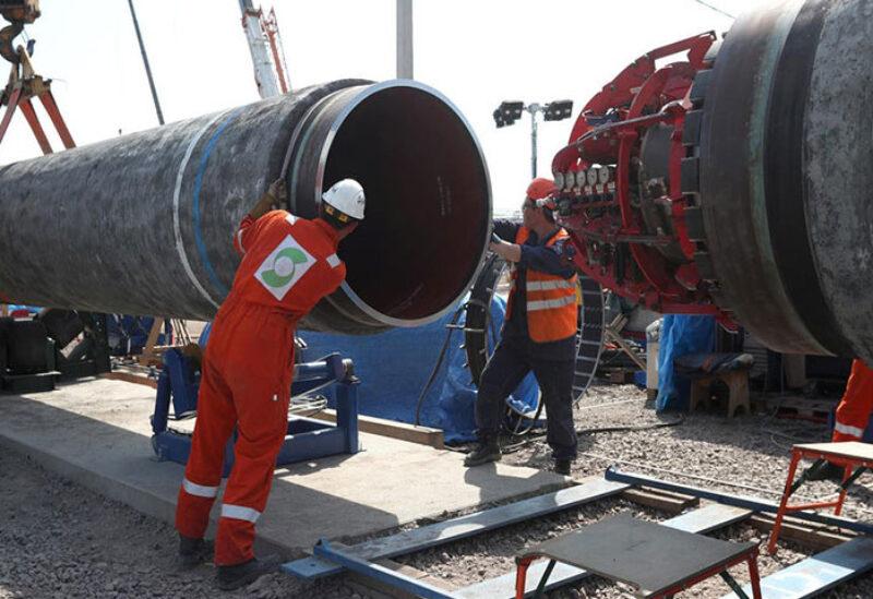 Nord Stream 2 pipeline in Russia