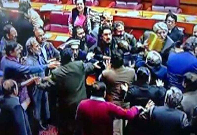 Pakistan Parliament scuffle