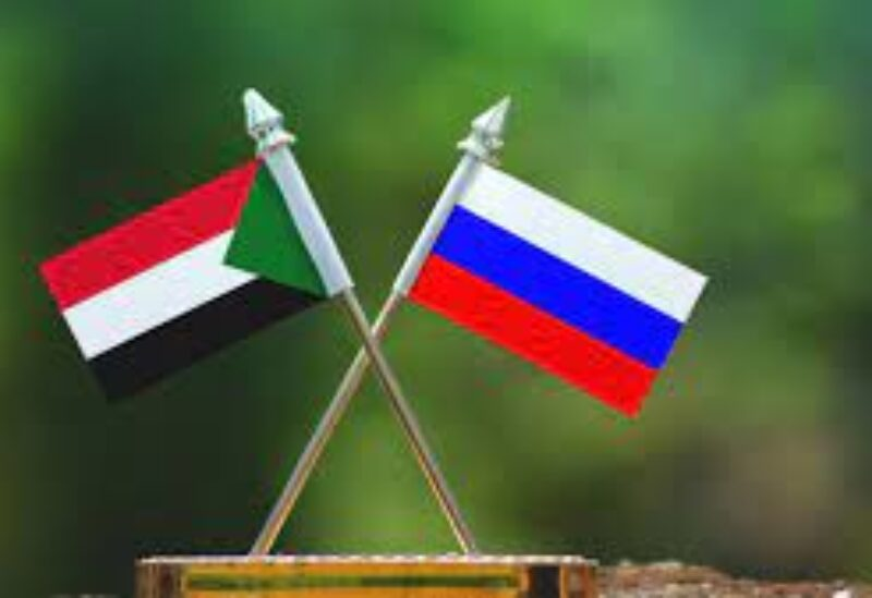 Russian and Sudanese flags