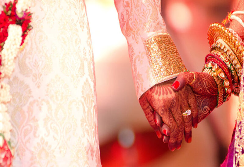 The majority of Indian weddings are arranged marriages