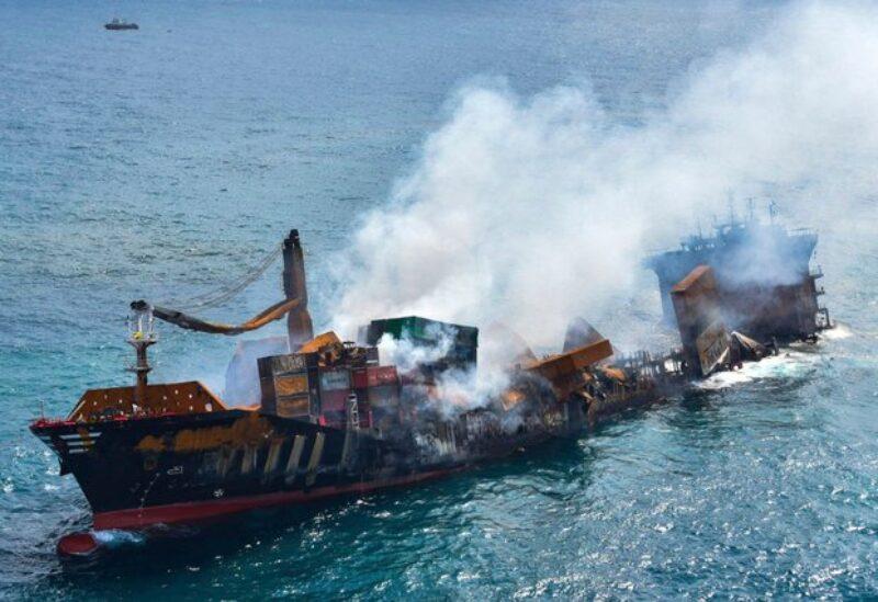 The sinking Sri Lanka ship