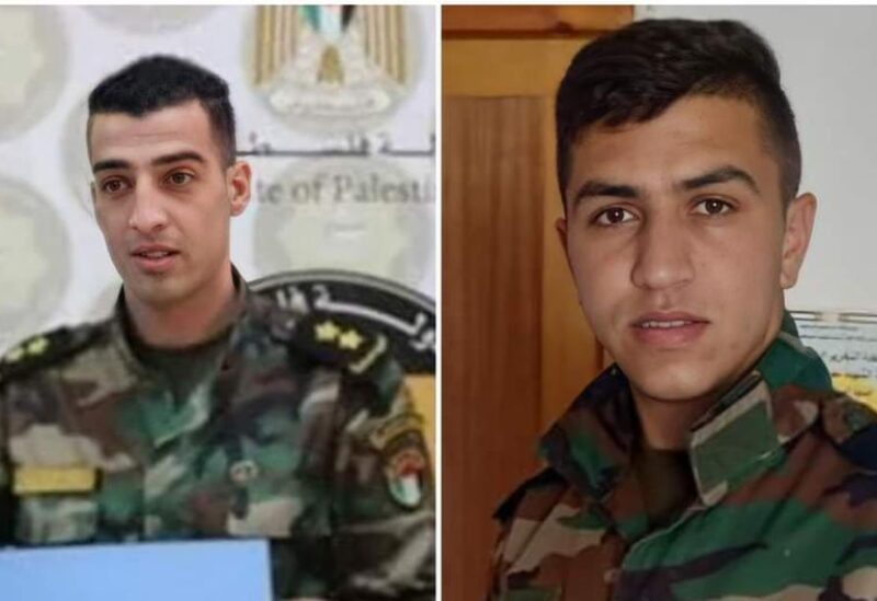 The two killed members of the Palestinian Military Intelligence, Tayseer Issa and Adham Aliwi
