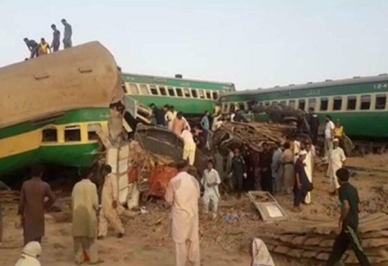 Trains collide in Pakistan