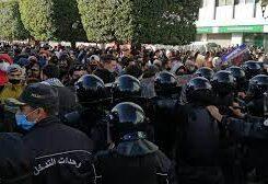 Tunisia anti police protest