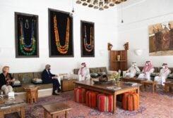 US Climate Envoy John Kerry meets with Saudi Arabia's Crown Prince, Mohammed bin Salman