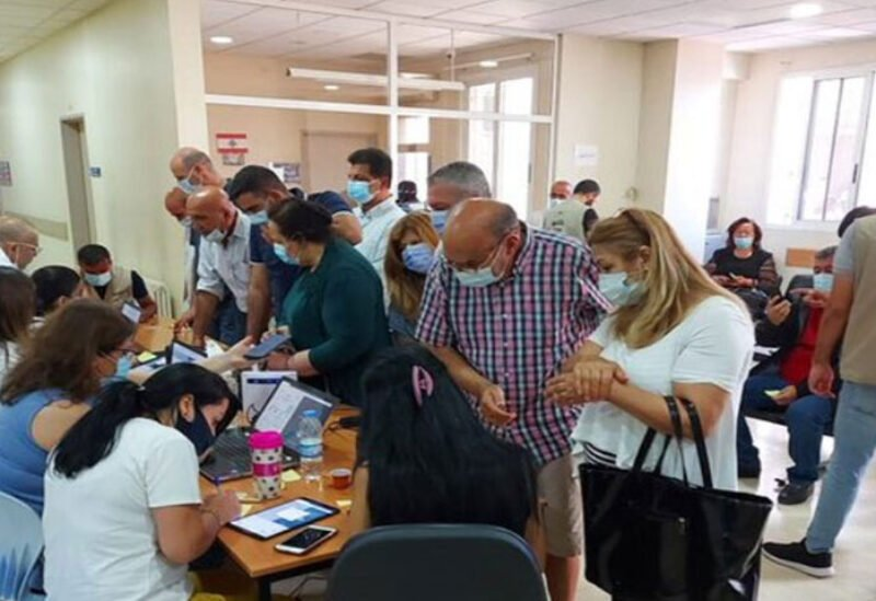 Vaccination centers crowded with citizens seeking the vaccine