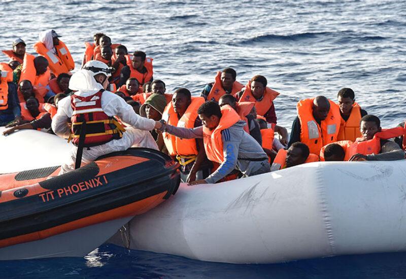 children drown in the Mediterranean Sea off Libya