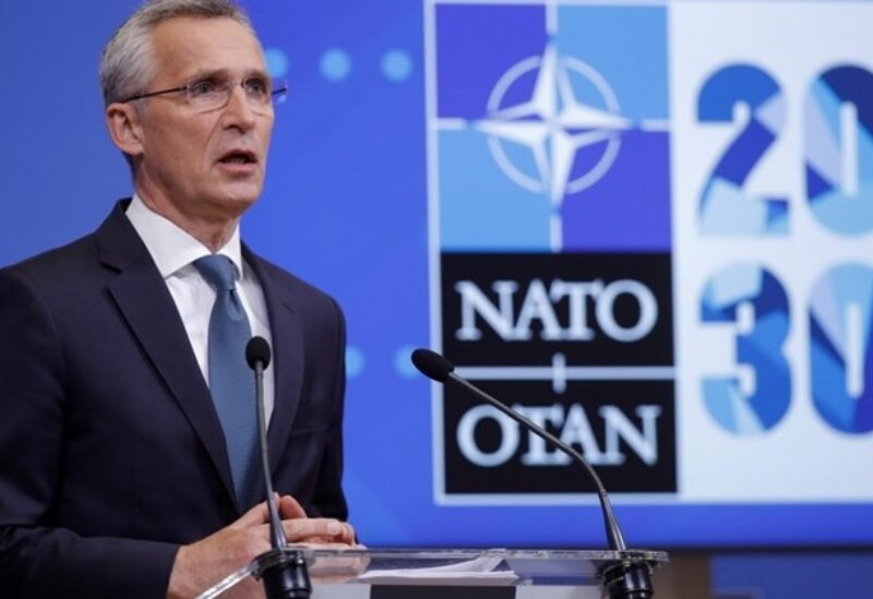NATO Secretary-General Jens Stoltenberg gives a news conference ahead of video conference with foreign and defense ministers, at the Alliance's headquarters in Brussels, Belgium May 31, 2021. REUTERS