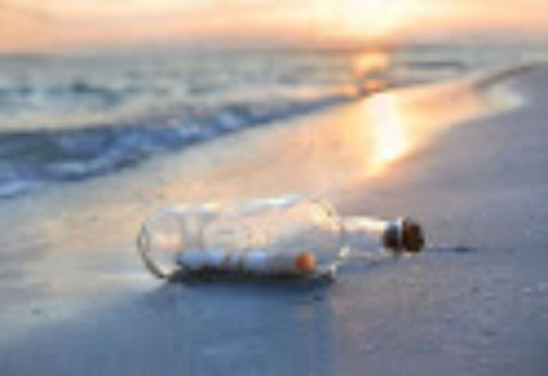 message in a bottle, symbolic