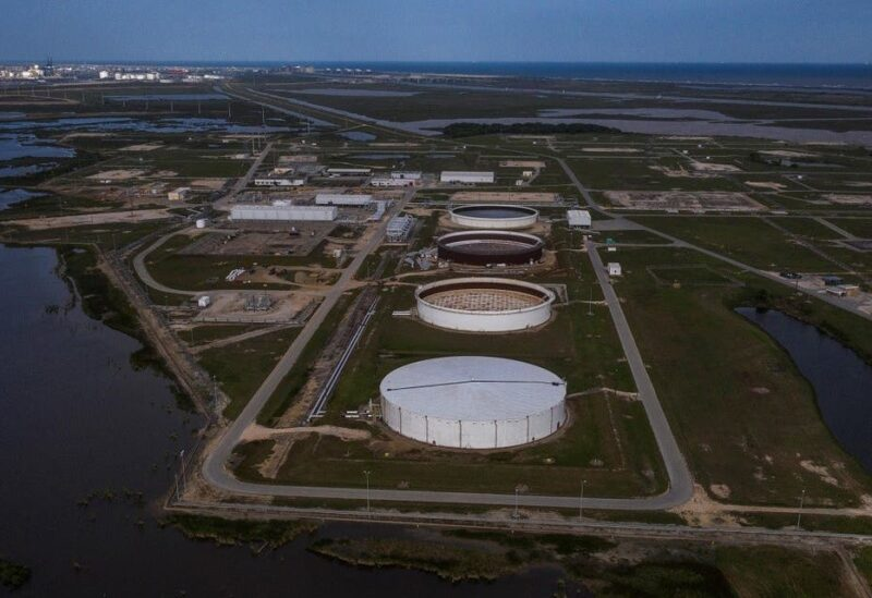 An aerial view of an oil storage facility in Texas. (Reuters)
