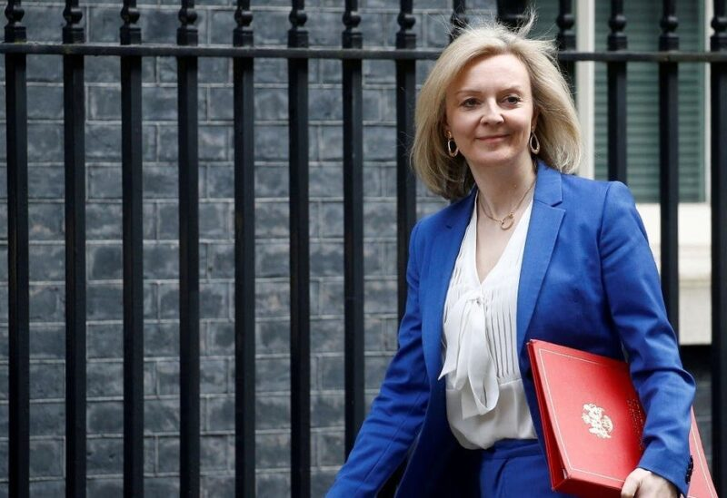 Britain's Secretary of State of International Trade and Minister for Women and Equalities Liz Truss is seen outside Downing Street London, Britain March 17, 2020. (Reuters)