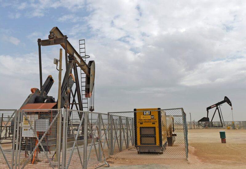 Pumpjacks operate in the desert oil fields of Sakhir in southern Bahrain. (File photo: AFP)