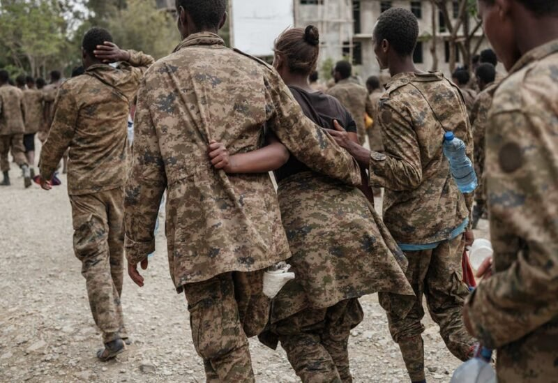 Captive Ethiopian soldiers arrive at the Mekele Rehabilitation Center in Mekele, the capital of Tigray region, Ethiopia, on July 2, 2021. (File photo)