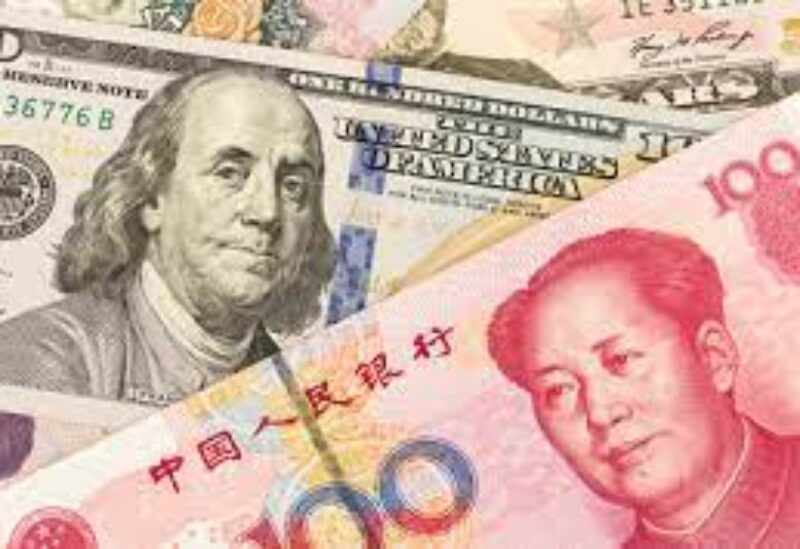 American and Chinese currencies