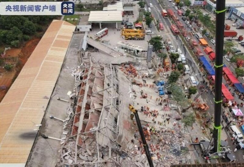 China, hotel collapse