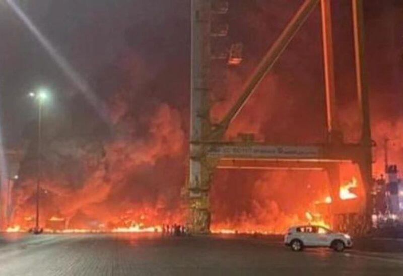 Fire breaks out at Jebel Ali Port in Dubai