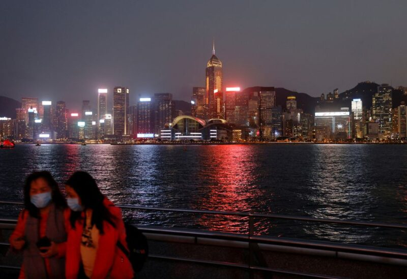 A general view of the central financial district, in Hong Kong, China March 11, 2021. REUTERS/Tyrone Siu/File Photo