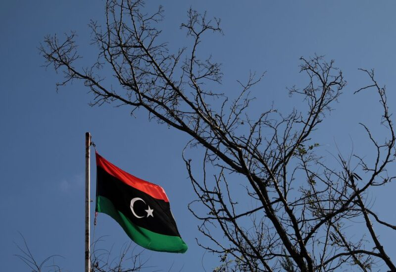 A Libyan flag flutters atop the Libyan Consulate in Athens, Greece, on December 6, 2019. REUTERS/Costas Baltas/File Photo