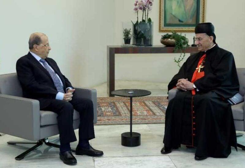 Patriarch Rahi and Michel Aoun
