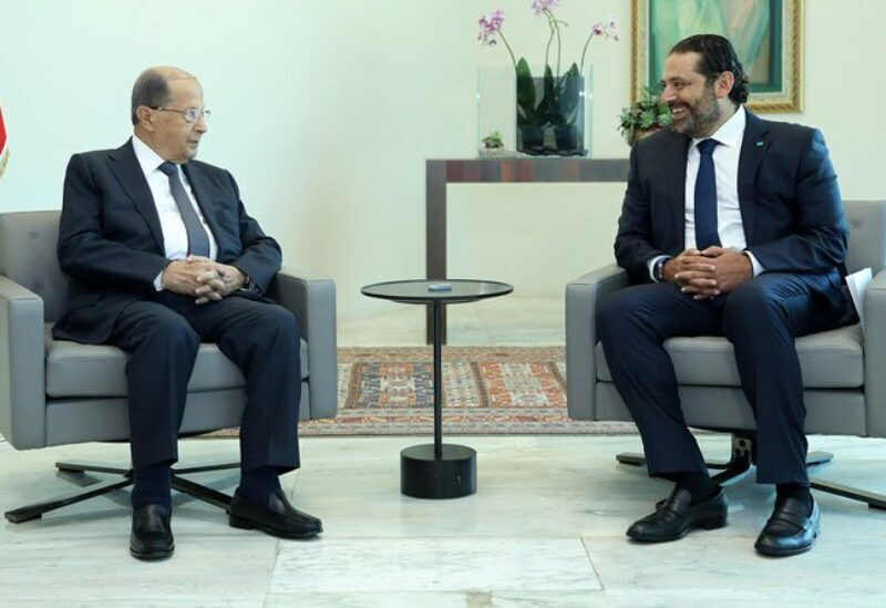 President of the Republic Michel Aoun and former Prime Minister Saad Hariri