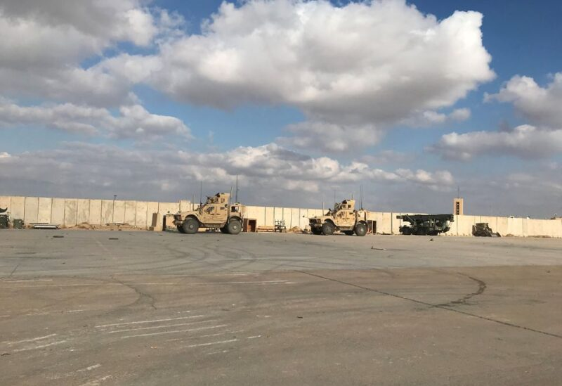 Military vehicles of U.S. soldiers are seen at Ain al-Asad air base in Anbar province, Iraq January 13, 2020. REUTERS/John Davison