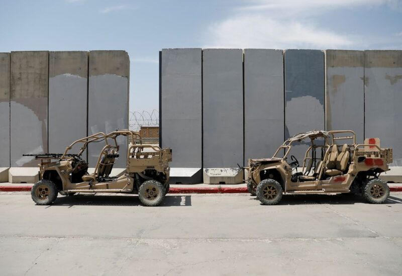 Infantry Squad vehicles are seen in Bagram U.S. air base, after American troops vacated it, in Parwan province, Afghanistan July 5, 2021. REUTERS/Mohammad Ismail