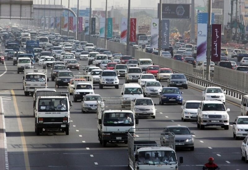 Traffic moves along Sheikh Zayed road in the heart of Dubai, 15 March 2007. (File photo: AFP)