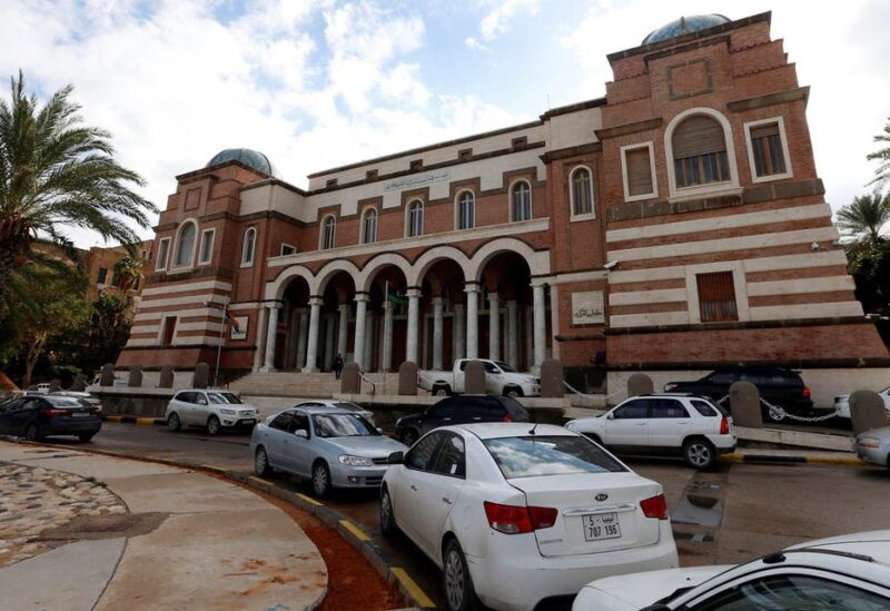 Cars are parked outside the Central Bank of Libya in Tripoli, Libya. (File photo: Reuters)
