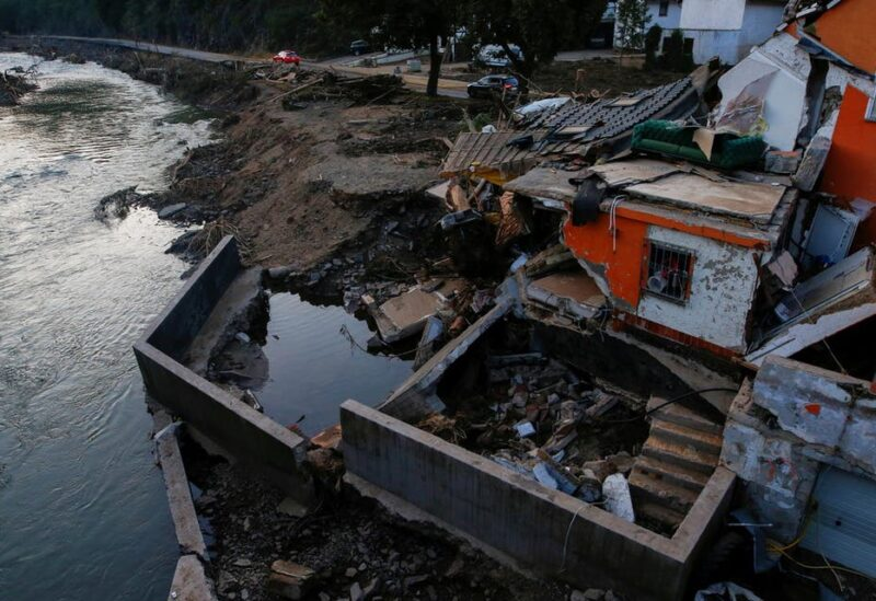 Damages are seen in an area affected by floods caused by heavy rainfalls in Schuld, Germany, July 20, 2021. (Reuters