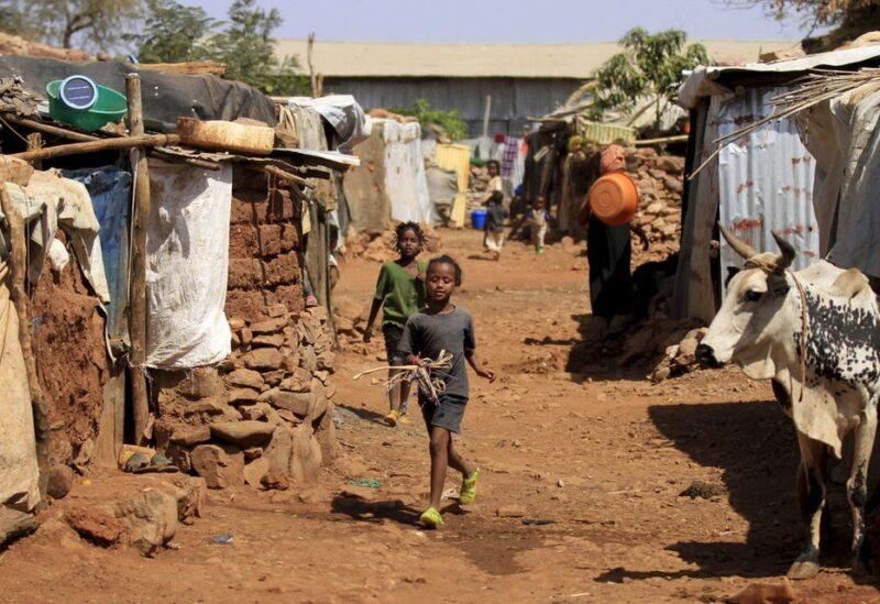 Eritrean refugee children walk within the Mai-Aini refugee camp near the Eritrean border in Tigray region in Ethiopia, February 10, 2016. (Reuters)