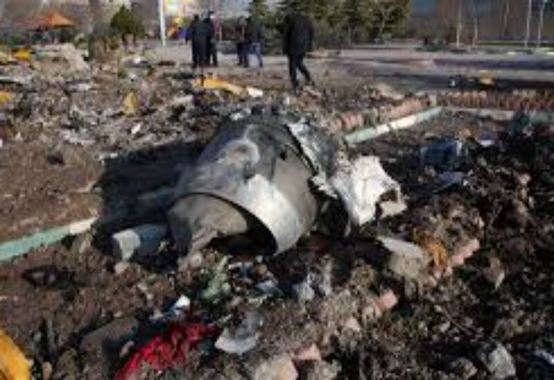 wreckage of the Ukranian plane crash, archive.