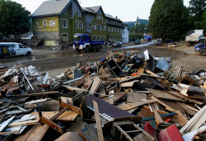 Debris in an area affected by floods caused by heavy rainfall in Schuld, Germany, July 20, 2021. (File Photo: Reuters)
