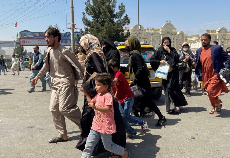 Afghans fleeing the country